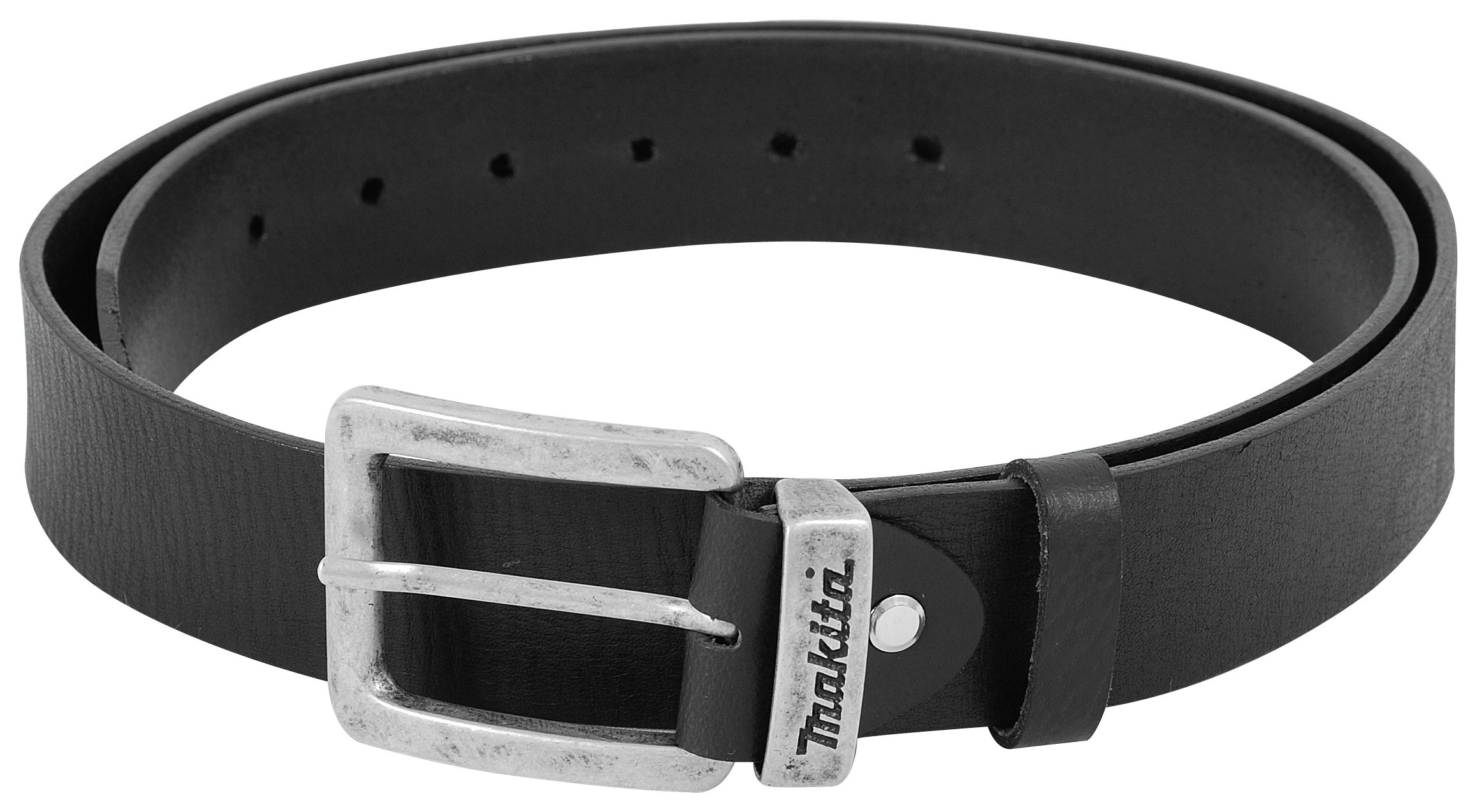 Image of Makita Black Leather Belt 33 inch - 45 inch.