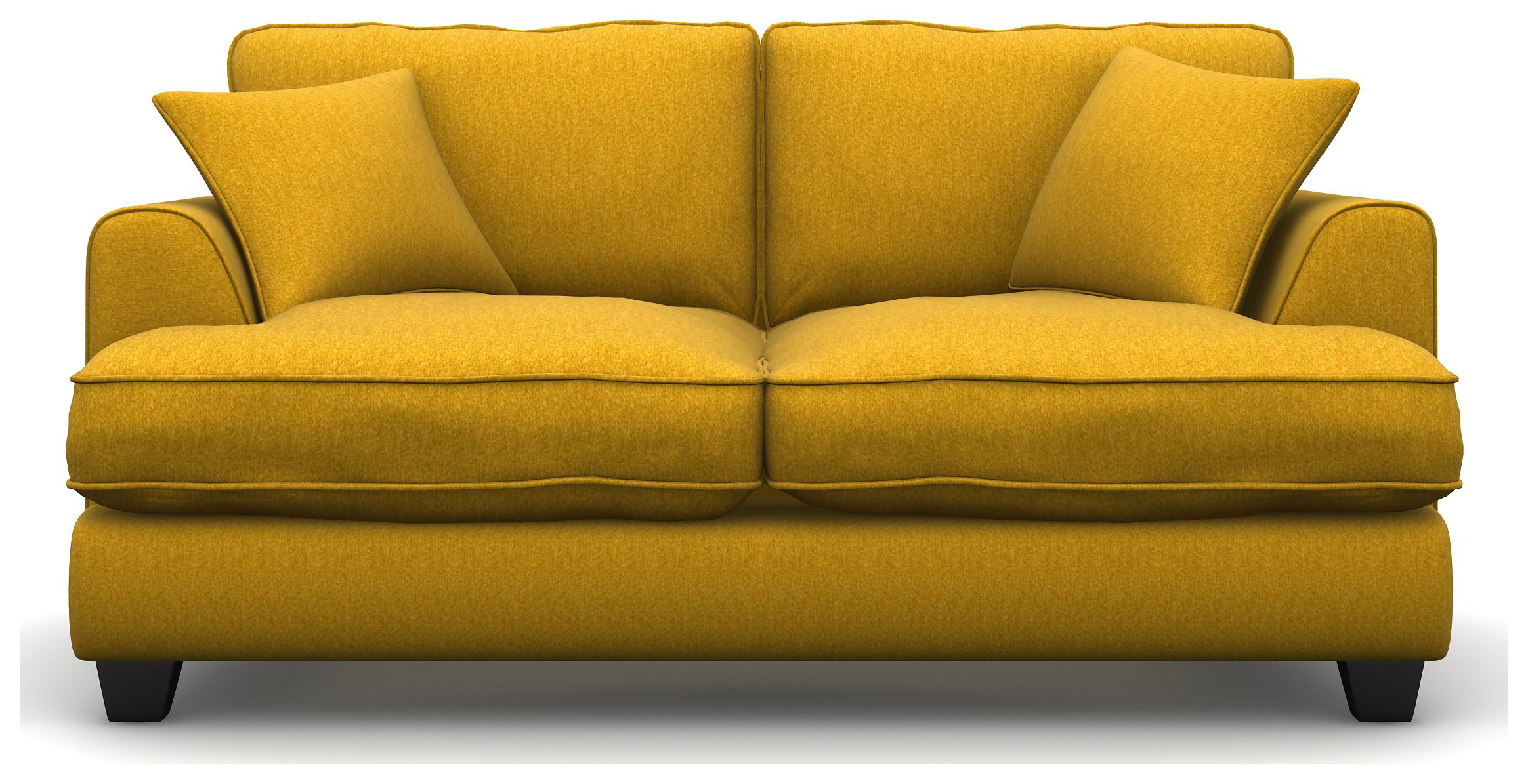 Heart of House Hampstead 2 Seater Tweed Sofa Bed - Saffron Yellow