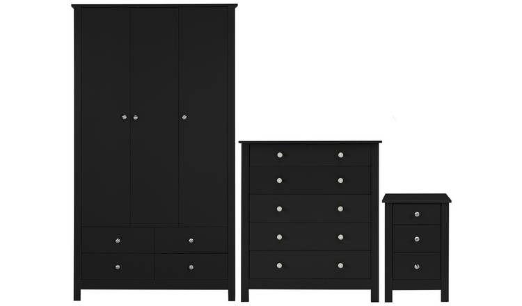 Buy Argos Home Osaka 3 Piece Bedroom Furniture Package Black