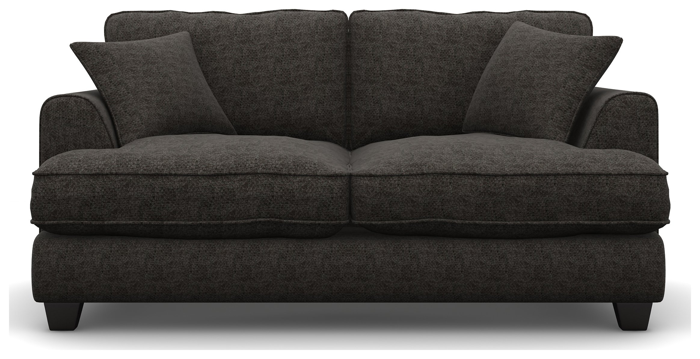Heart of House Hampstead 2 Seater Fabric Sofa - Charcoal.