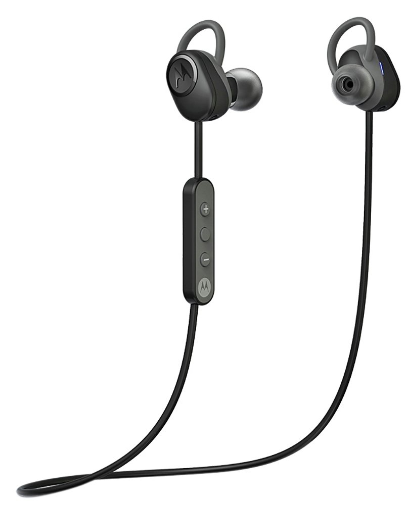 Motorola Verve Loop Sports Headphones - Black/Silver