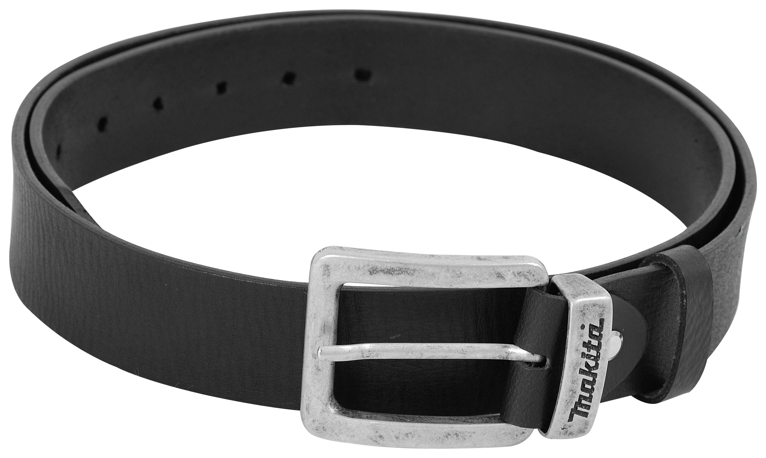 Image of Makita Black Leather Belt 28 inch - 38 inch.