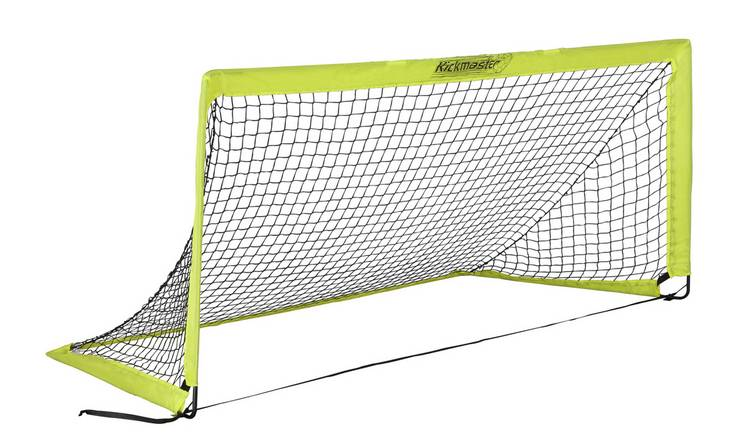 Kickmaster 6.5 x 3ft Quick Assembly Foldable Football Goal