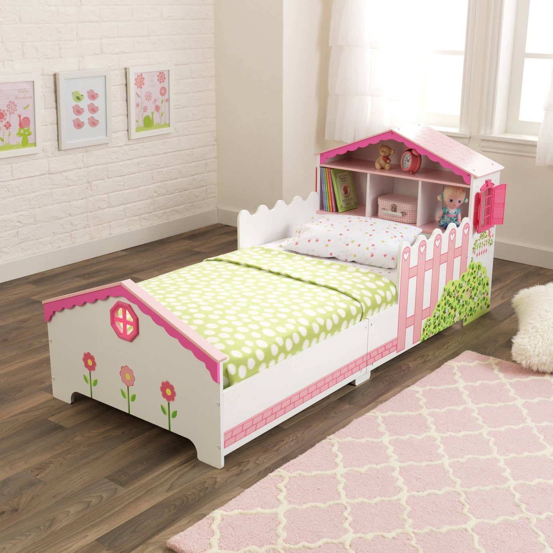 Image of KidKraft Doll House Wooden Toddler Bed
