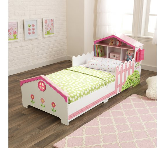 KidKraft Doll House Wooden Toddler Bed