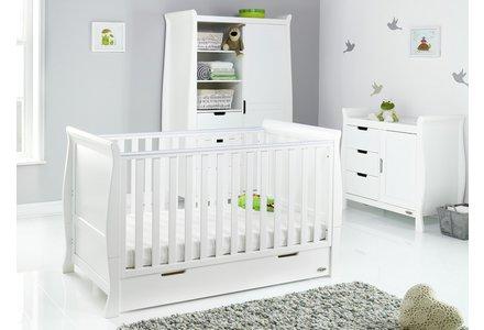Obaby Stamford 3 Piece Furniture Room Set - White.