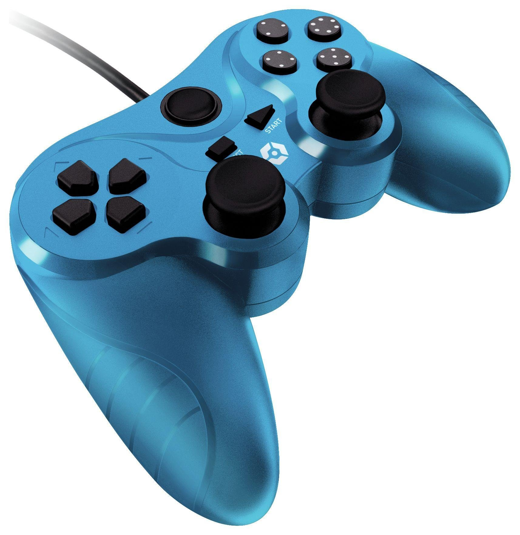 Image of Gioteck - VX3 Wired - PS3 Controller - Blue
