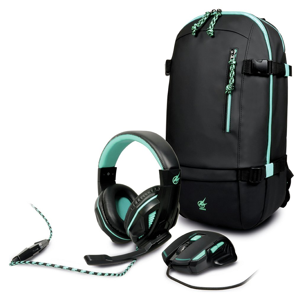 Image of Arokh Gaming Mouse, Headset and Backpack Bundle
