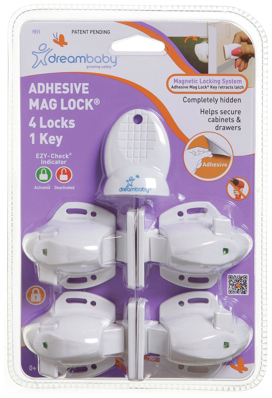 Image of Dreambaby - Adhesive Magnetic Lock - 4 Locks & 1 Key