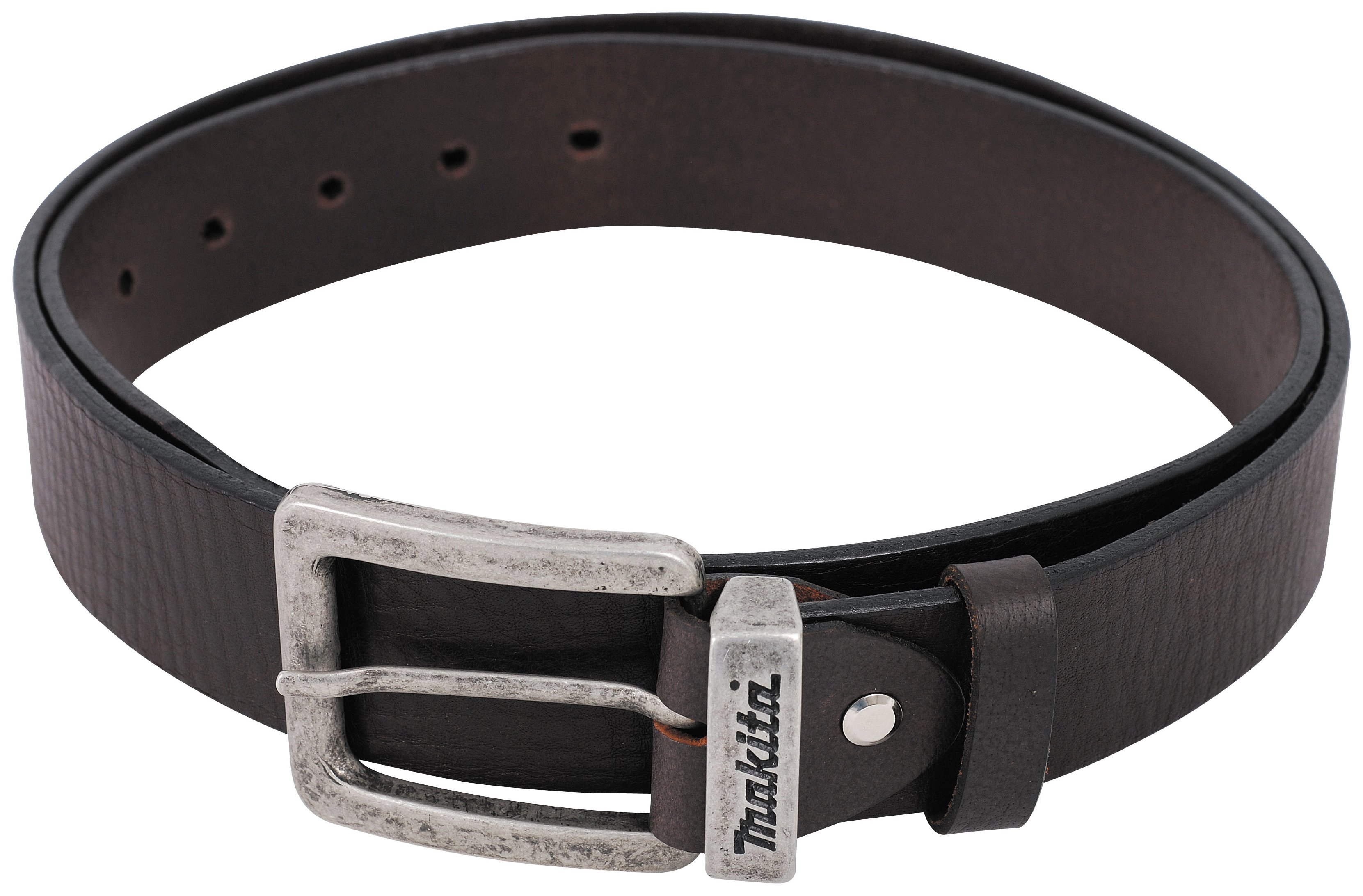 Image of Makita Brown Leather Belt 28 inch - 38 inch.