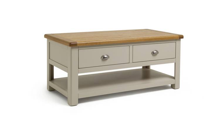 Habitat Kent Oak & Oak Veneer Coffee Table - Two Tone