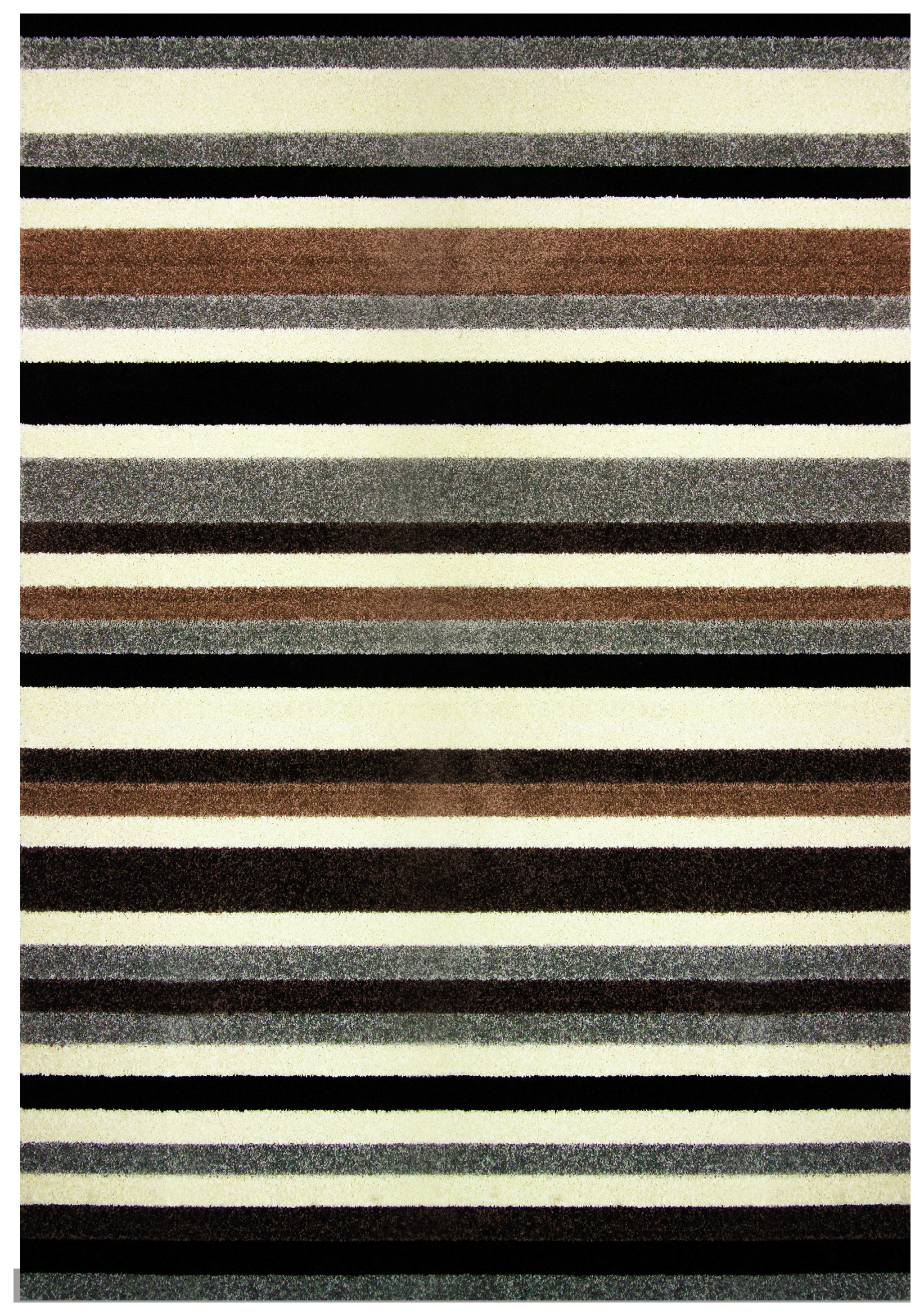 Image of Linea Stripe Washable Rug - 100 x 66cm - Natural.