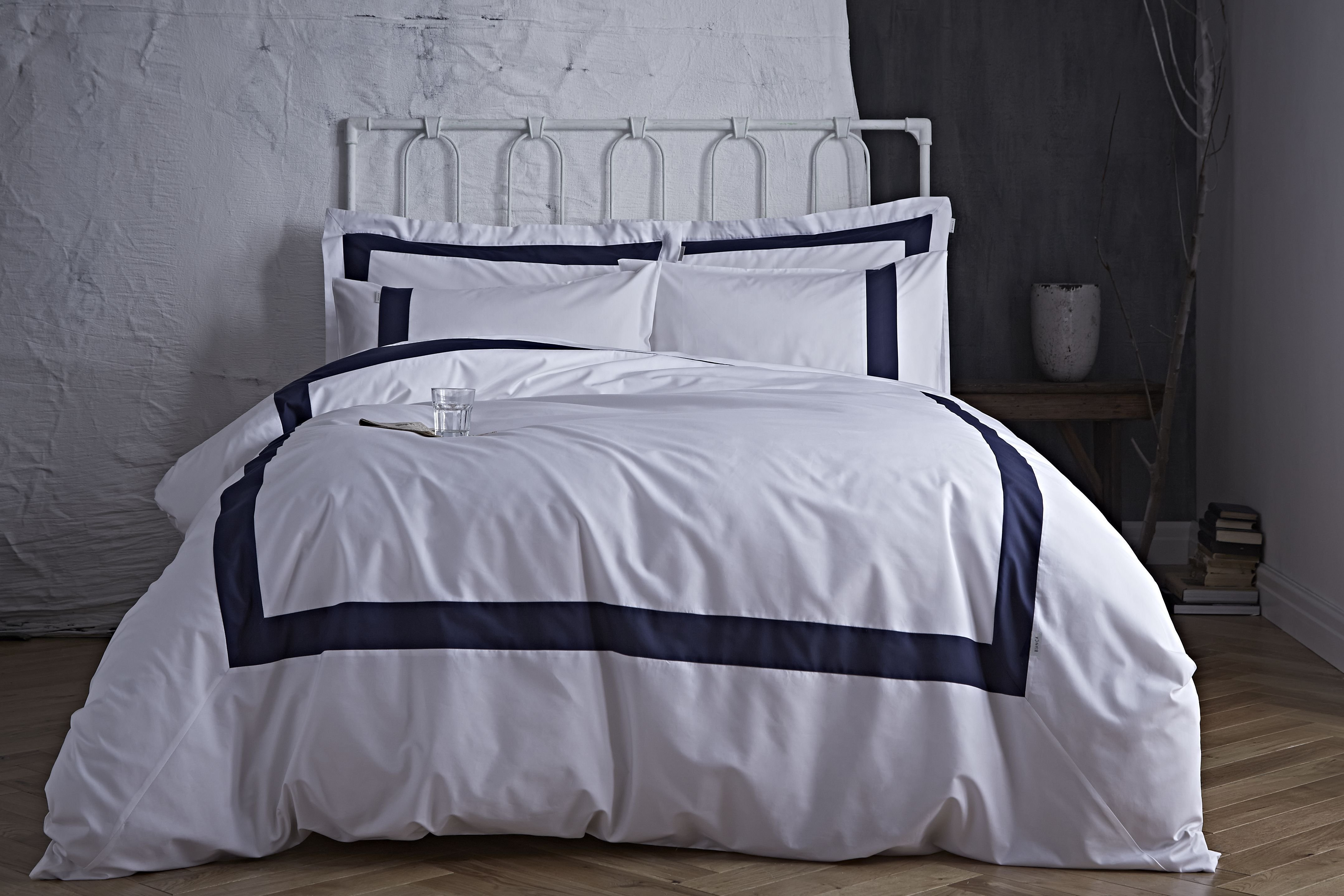 Image of Bianca Cotton - Soft Tailored Navy - Duvet Cover Set - Single