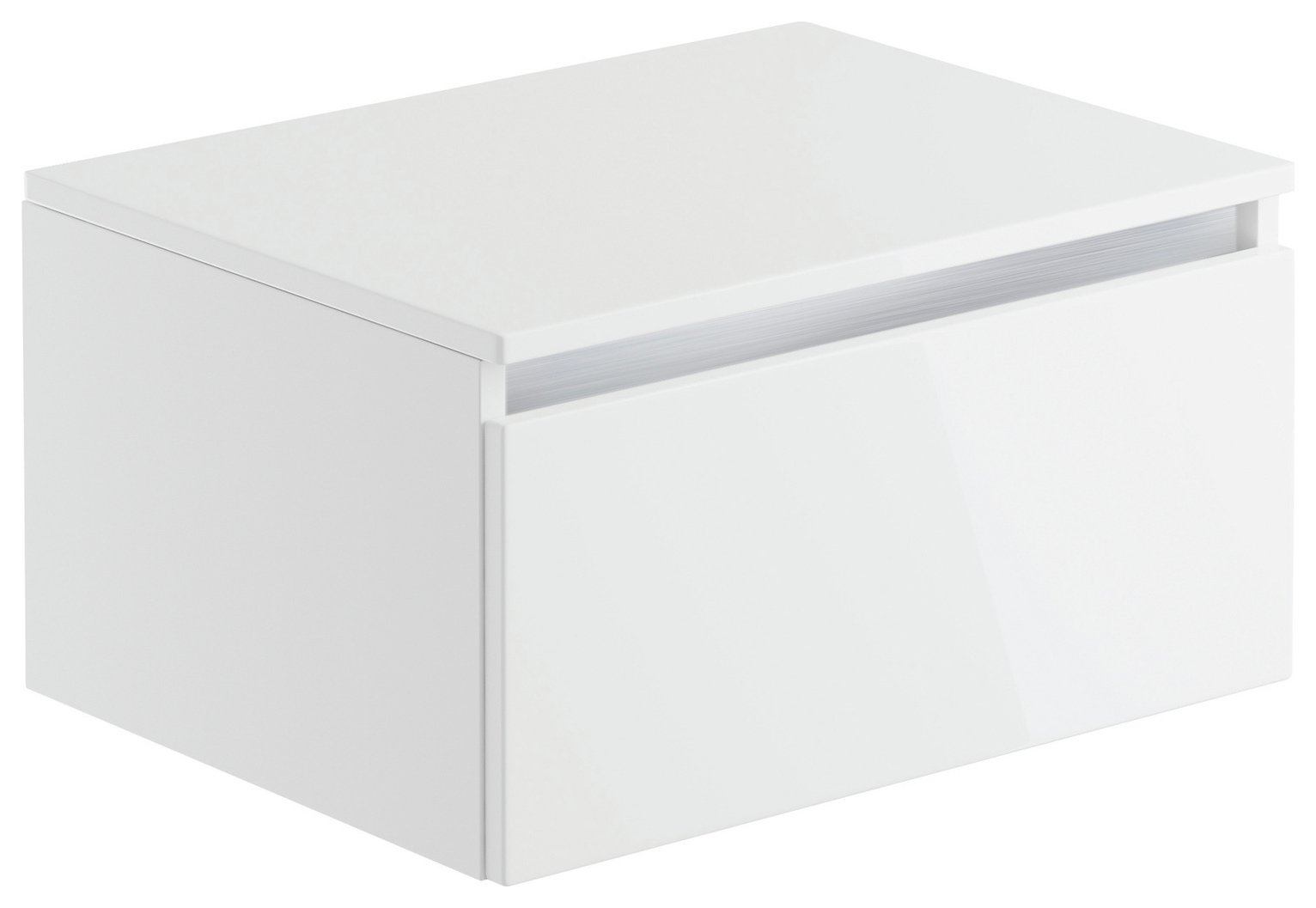 Lavari 1 Drawer Unit - White Gloss