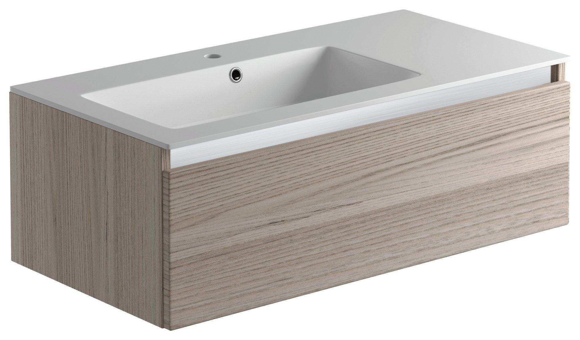 Lavari 1 Drawer Undersink Unit - Grey Drift