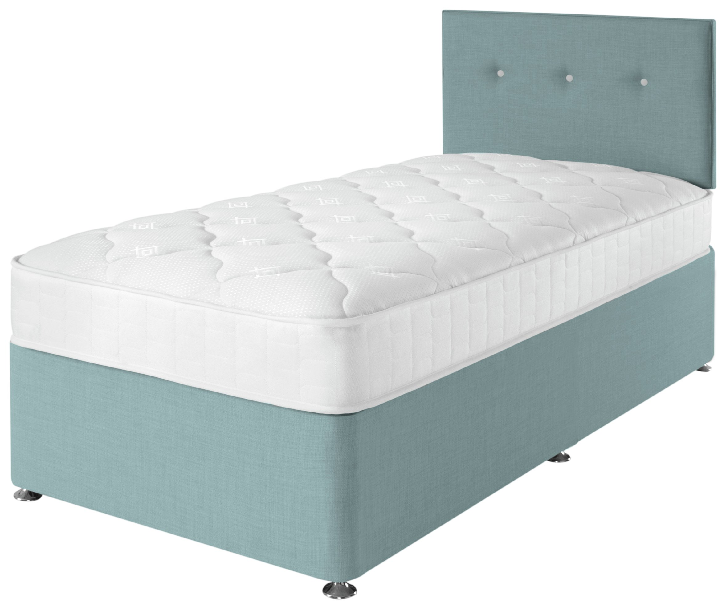 Airsprung Dalham Memory Blue Divan Bed - Single