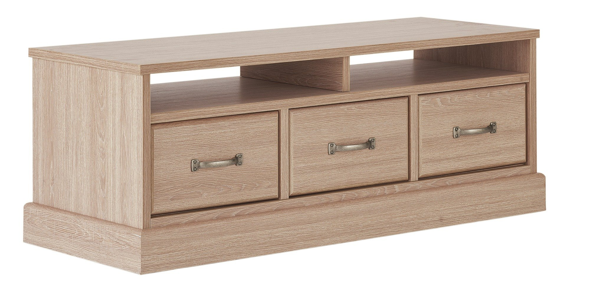 buy collection durham 3 drawer oak effect coffee table at argos.co