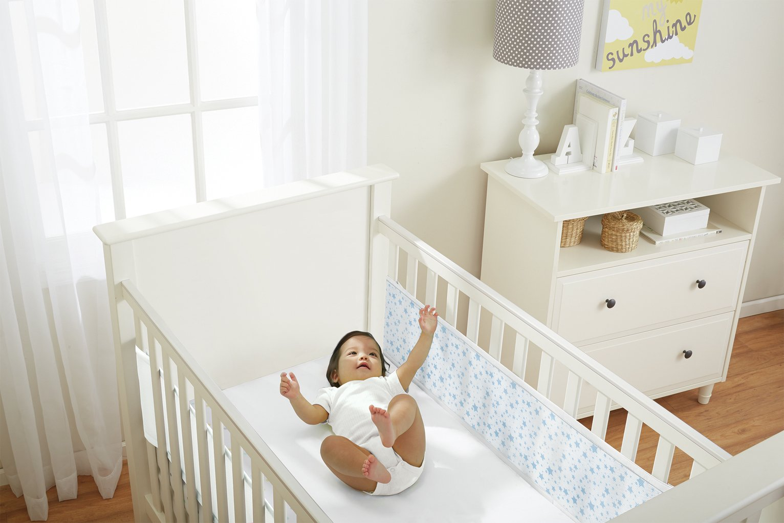 Compare retail prices of BreathableBaby Mesh Cot Liner Twinkle Pink to get the best deal online
