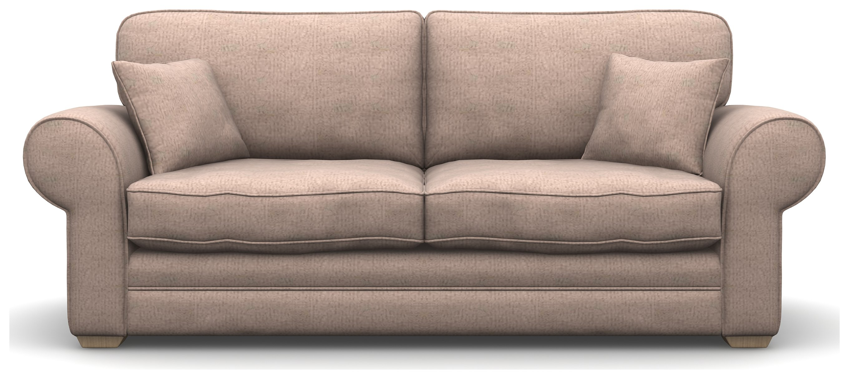 Heart of House Chedworth 3 Seater Mushroom Fabric Sofa