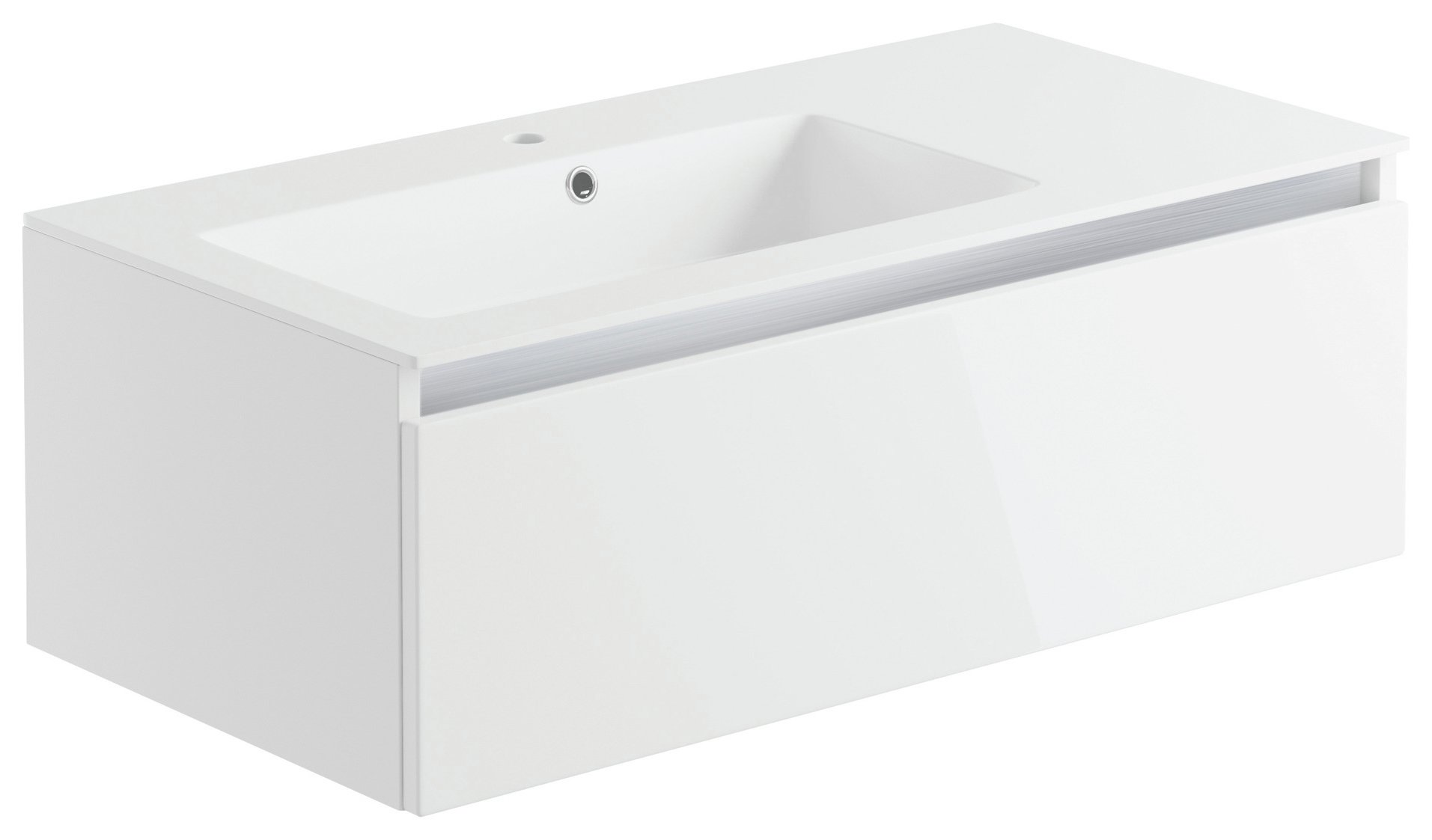Lavari 1 Drawer Undersink Unit - White Gloss