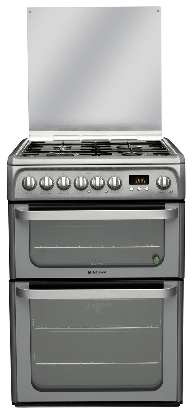 Hotpoint - HUD61G - Dual Fuel Cooker - Graphite