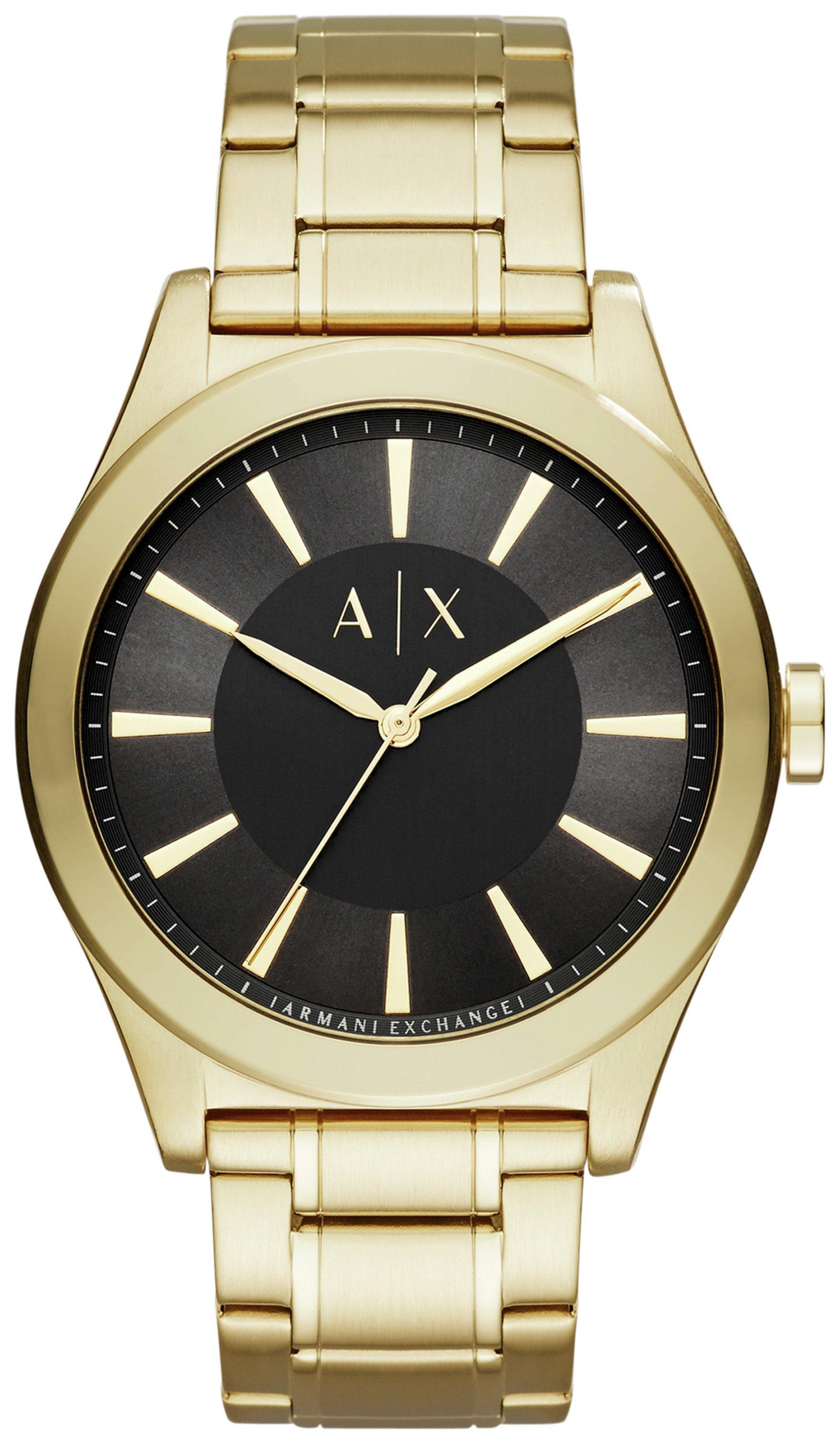 Armani Exchange Men's Gold Tone Steel Bracelet Watch