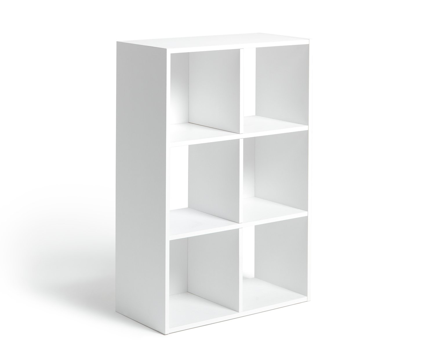 hygena squares plus 6 cube storage unit white gloss