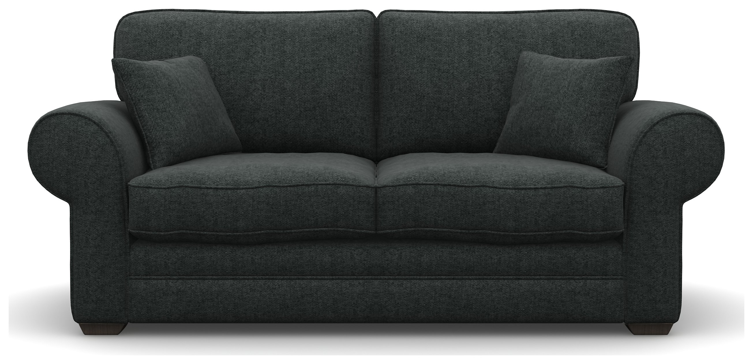 Heart of House Chedworth 2 Seat Tweed Fabric Sofa - Charcoal