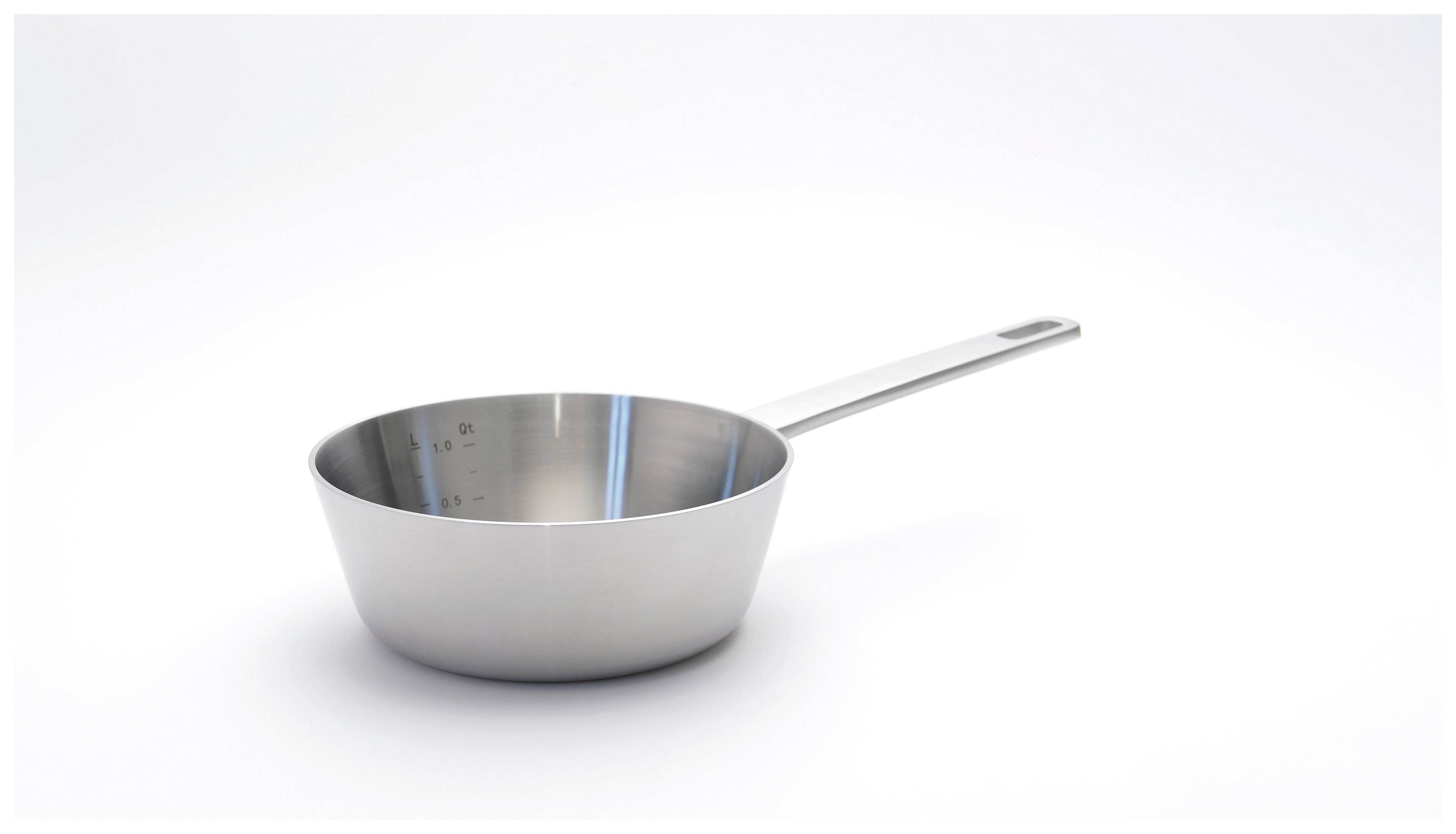 Image of BergHOFF 18cm Stainless Steel 5-Ply Chefs Pan.