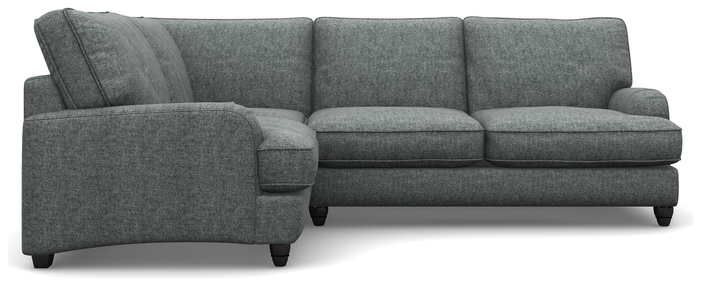 Create your own Heart of House Adeline Tweed Fabric Left Corner Sofa - Grey.