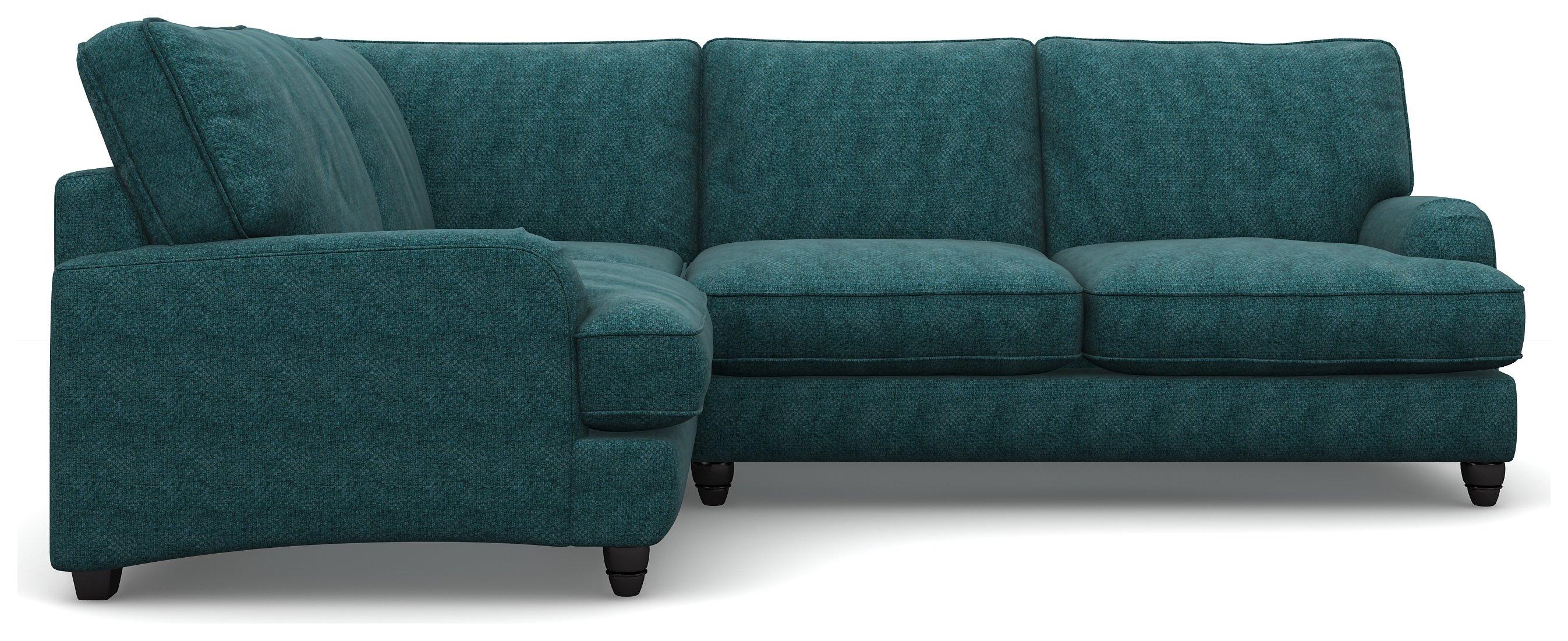 Heart of House Adeline Comfort Fabric LH Corner Sofa - Teal