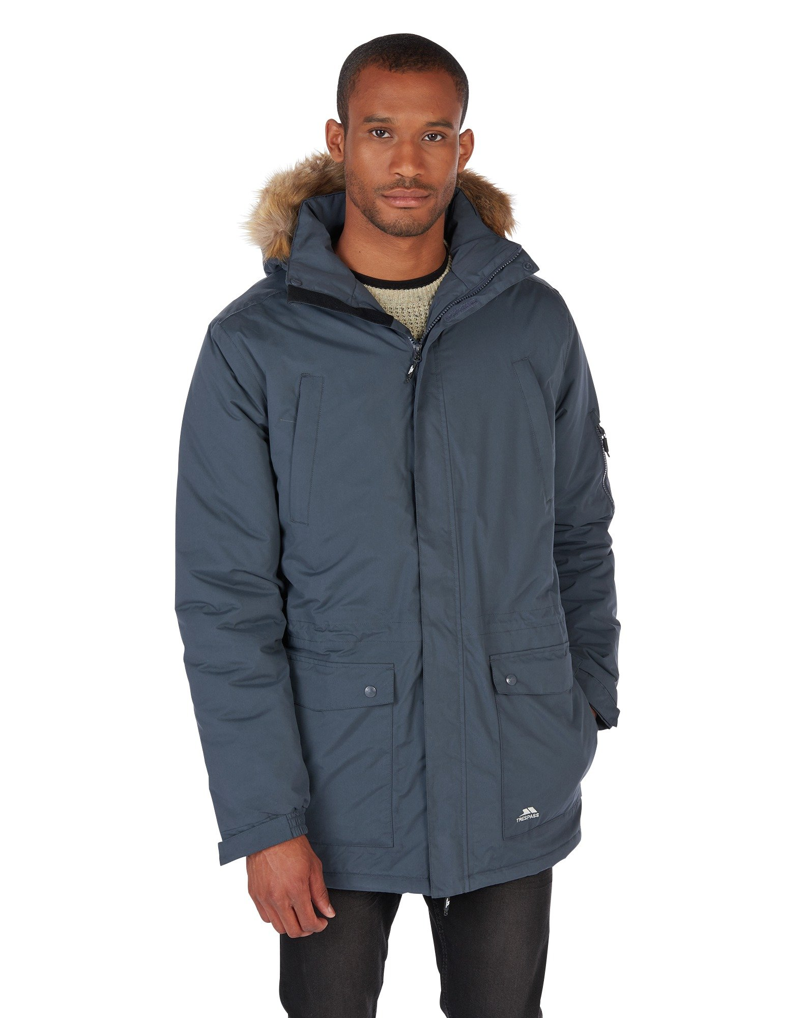 Image of Trespass Grey Parker Jacket - Small