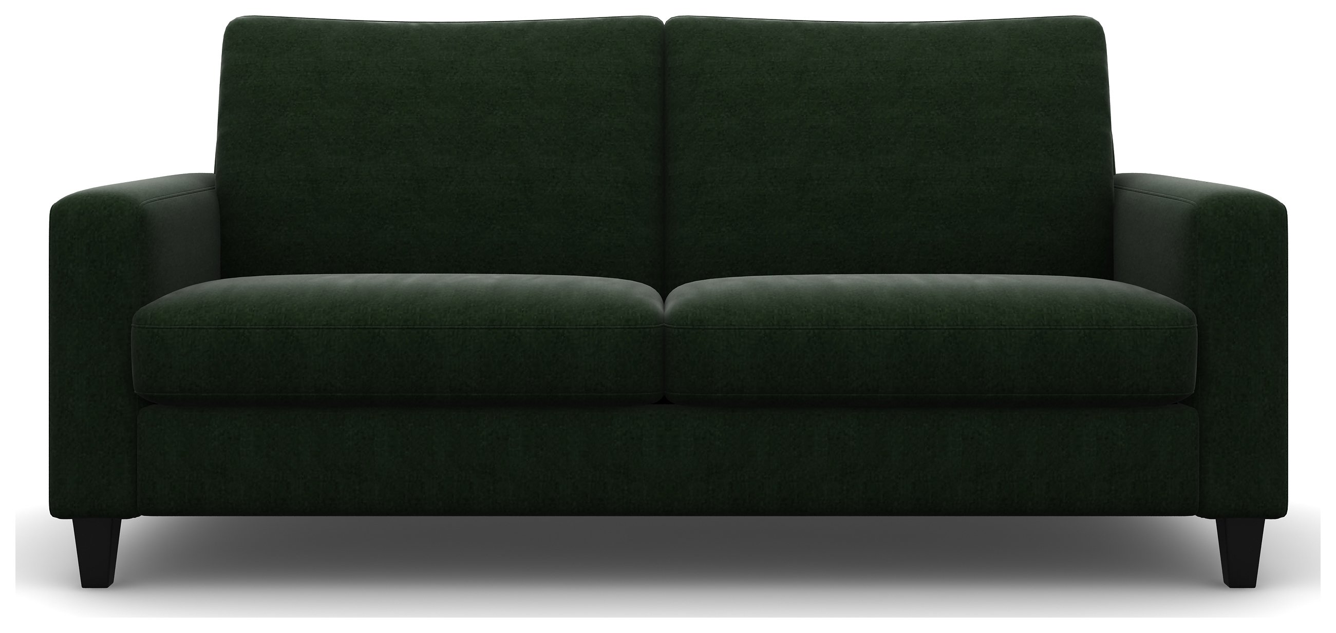Heart of House Harrison 4 Seater Fabric Sofa - Forest + Black Legs.