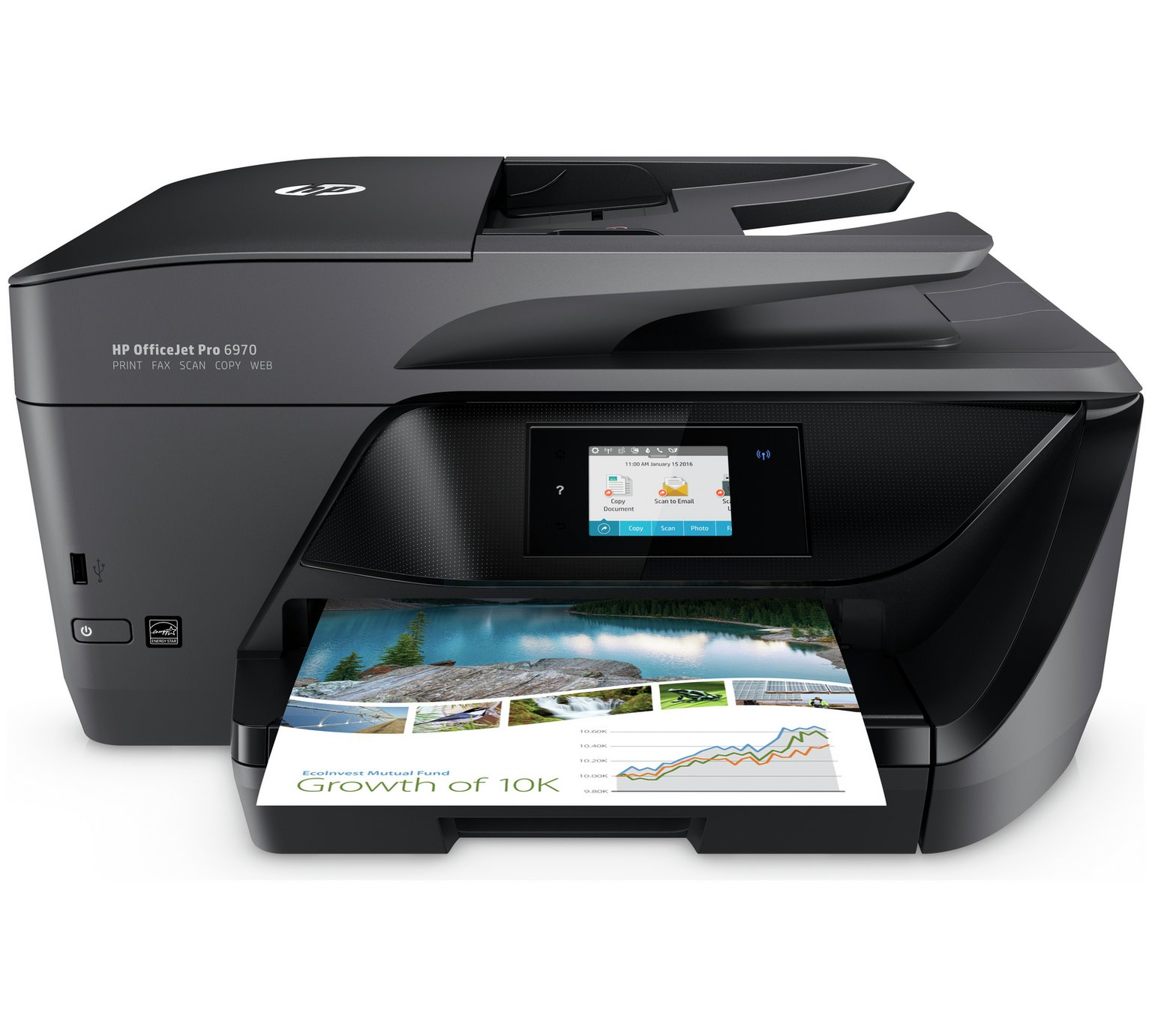 HP OfficeJet 6970 All-in-One Printer,Fax & Instant Ink Trial