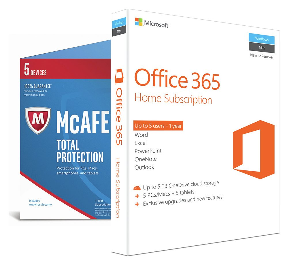 Microsoft Office 365 Home and McAfee Total Protection