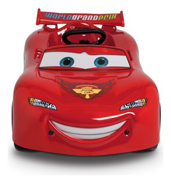 Image of Saetta Disney Lighting McQueen Red Pedal Car.