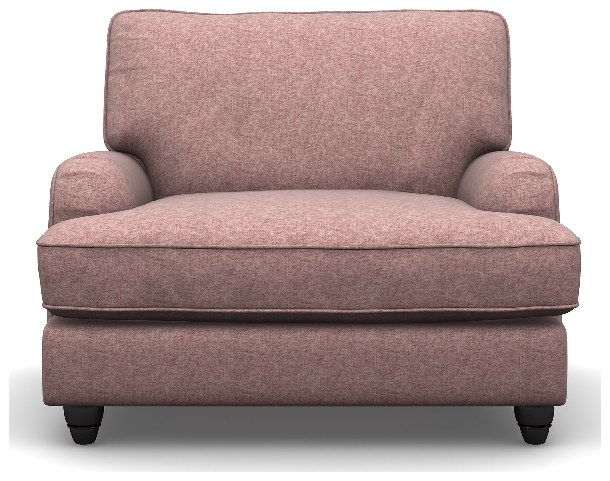 Heart of House Adeline Tweed Fabric Chair - Pink.