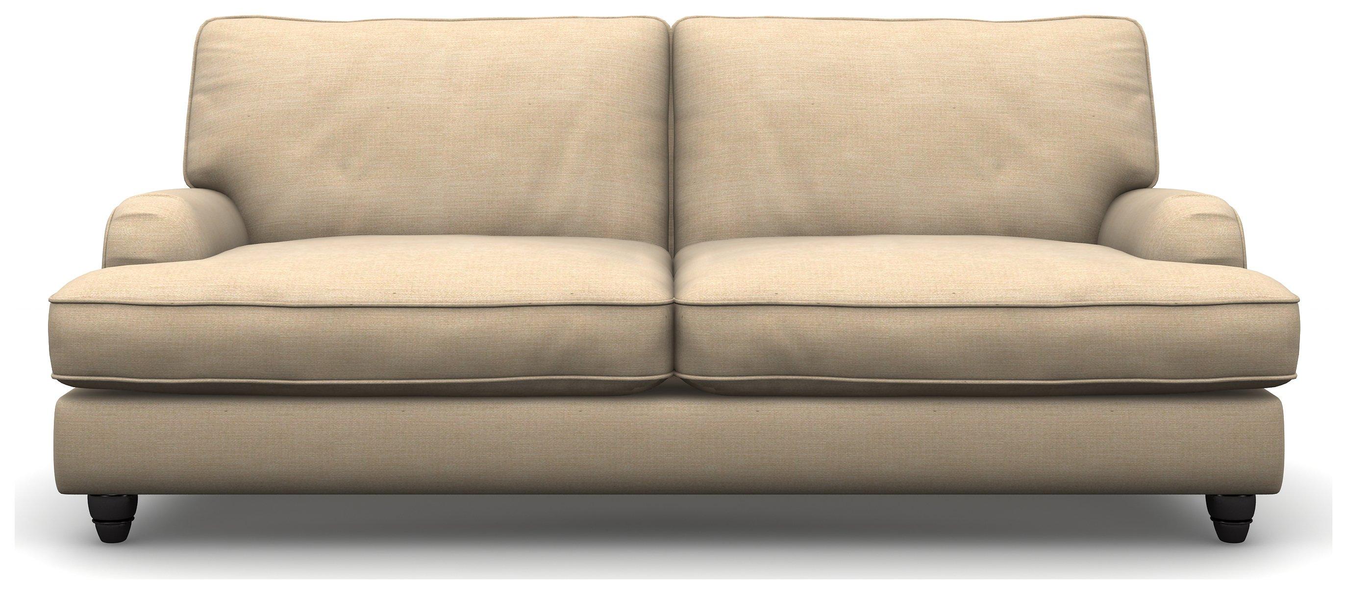 Heart of House Adeline Stylish 3 Seater Fabric Sofa - Beige.