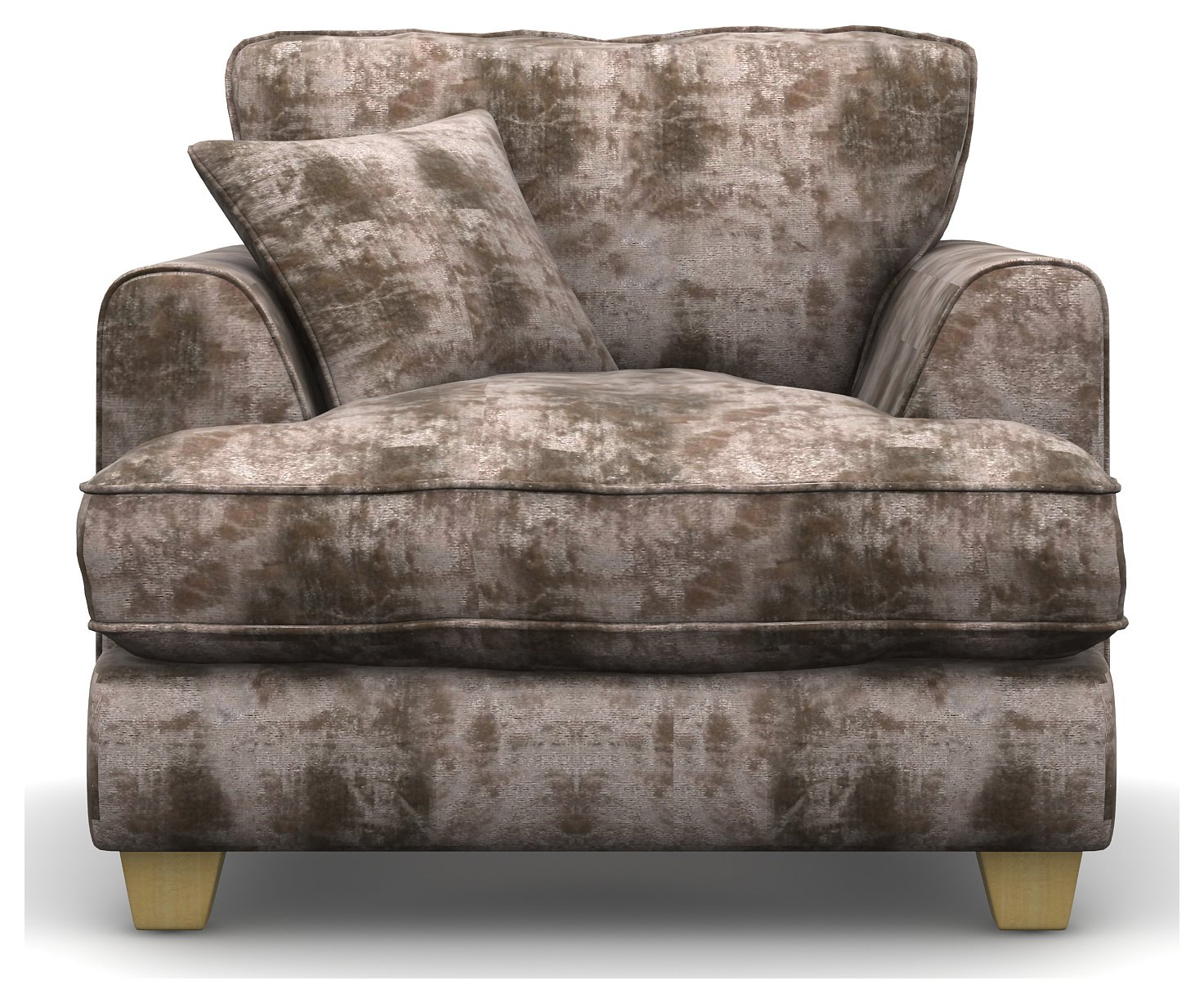 Heart of House Hampstead Shimmer Fabric Chair - Mink