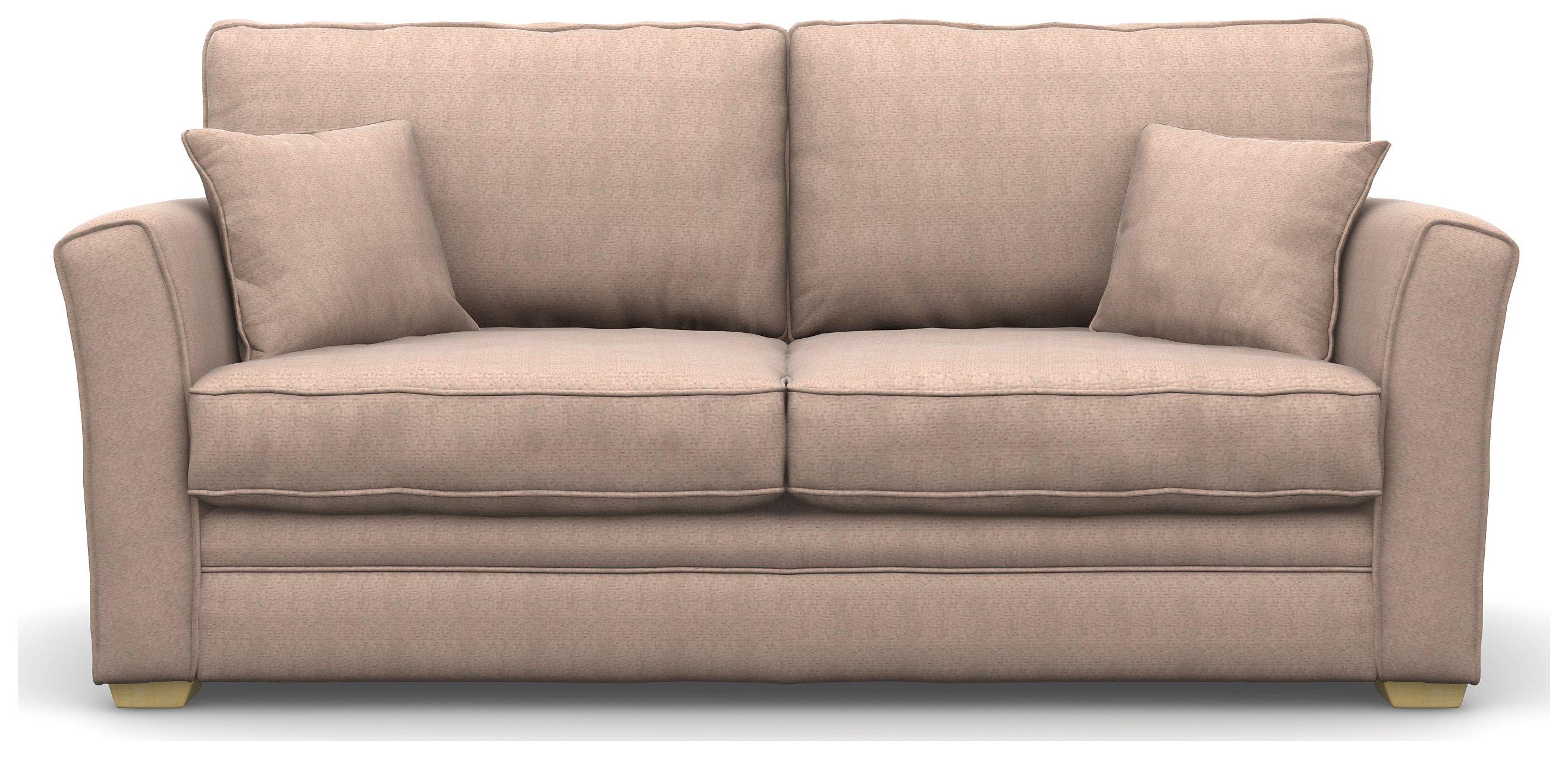 Heart of House Malton 3 Seater Fabric Sofa - Stone
