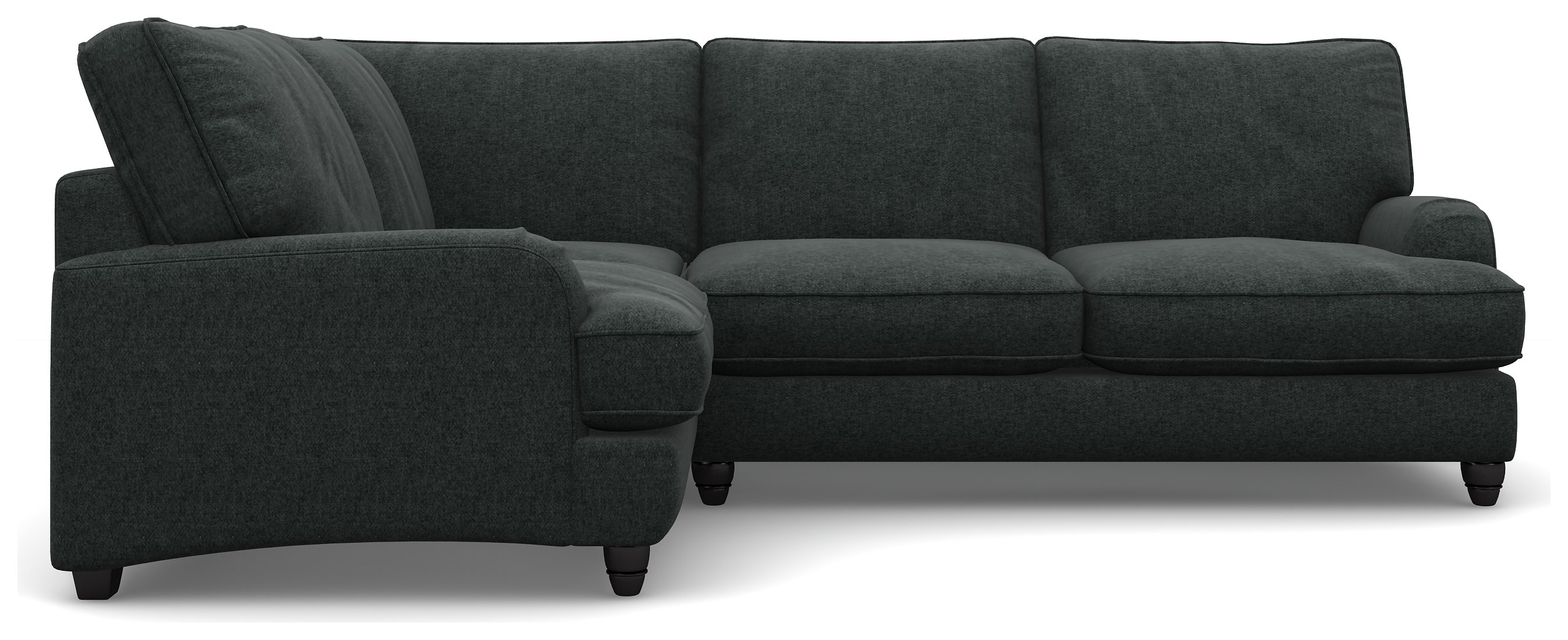 Heart of House Adeline Charcoal Tweed Fabric LH Corner Sofa