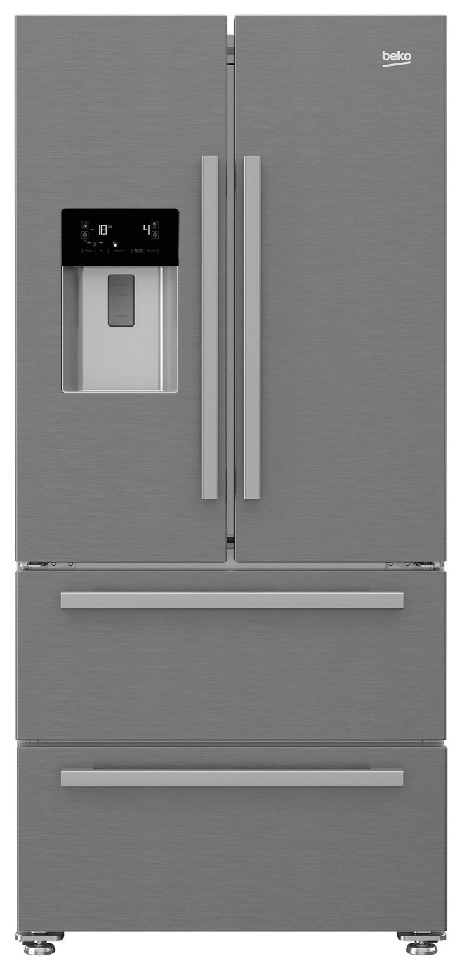 Beko GNE60520DX American Fridge Freezer - Stainless Steel