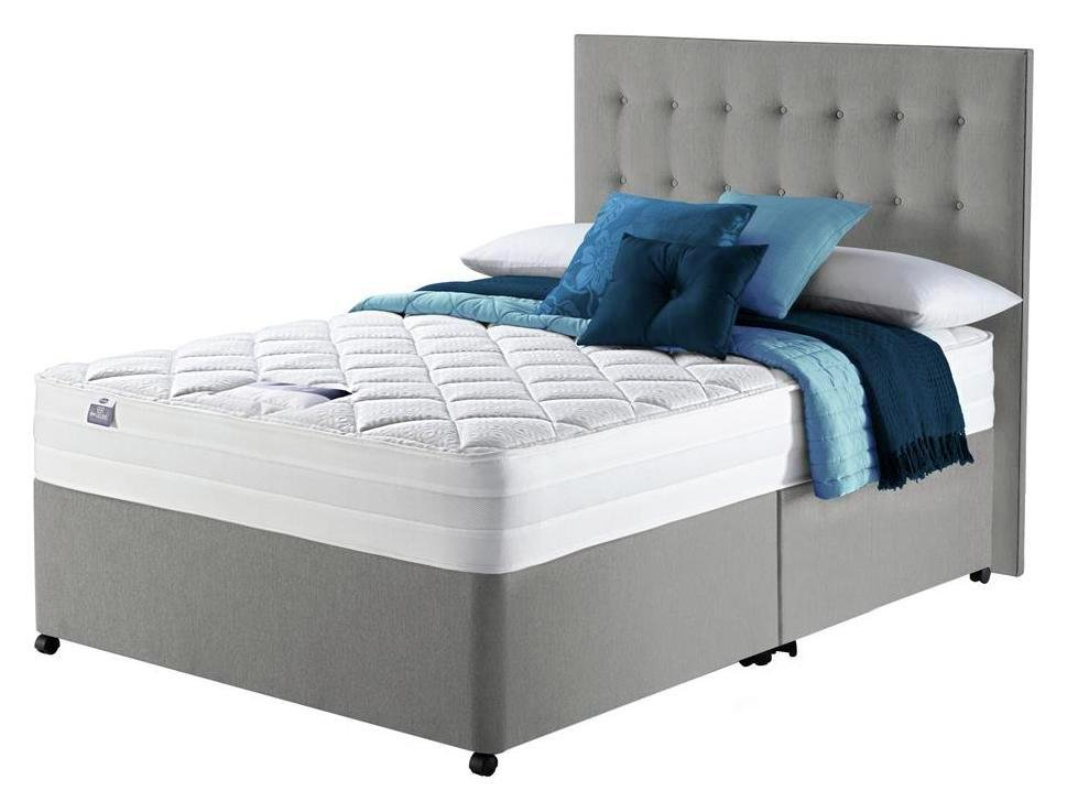 Silentnight knightly 2000 memory double divan bed review for Silent night divan beds