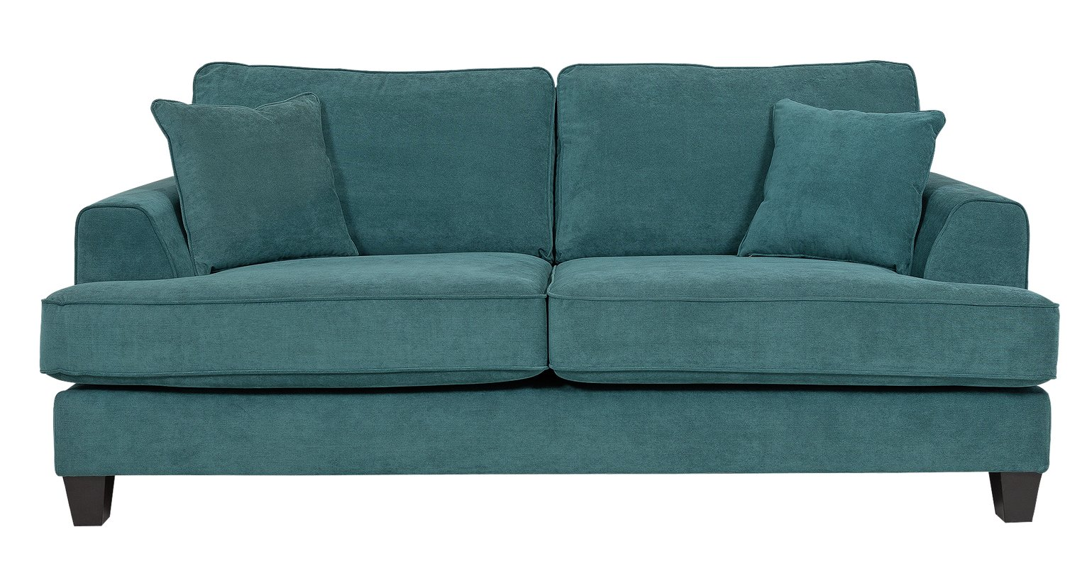 Heart of House Hampstead 3 Seater Fabric Sofa - Ocean Blue at Argos