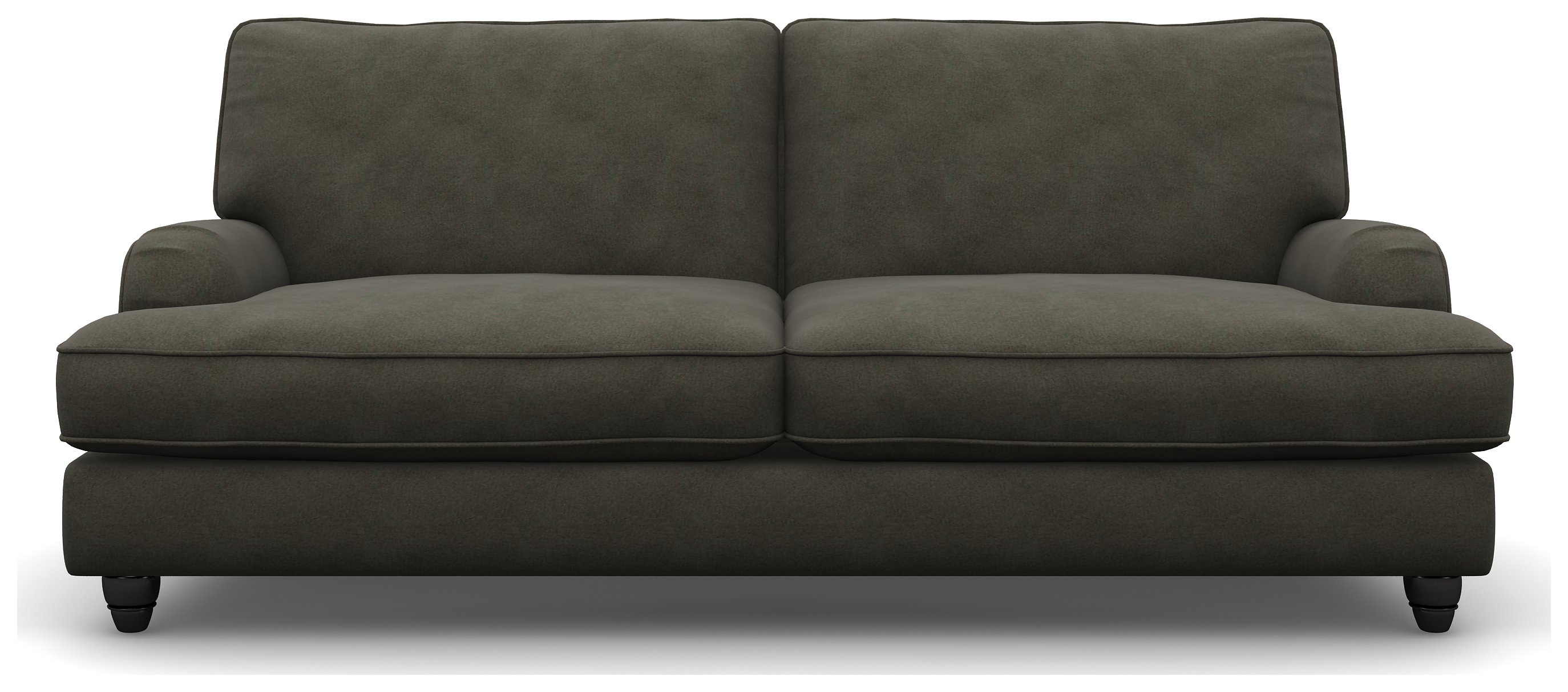 Heart of House Adeline Modern 3 Seater Fabric Sofa - Slate.