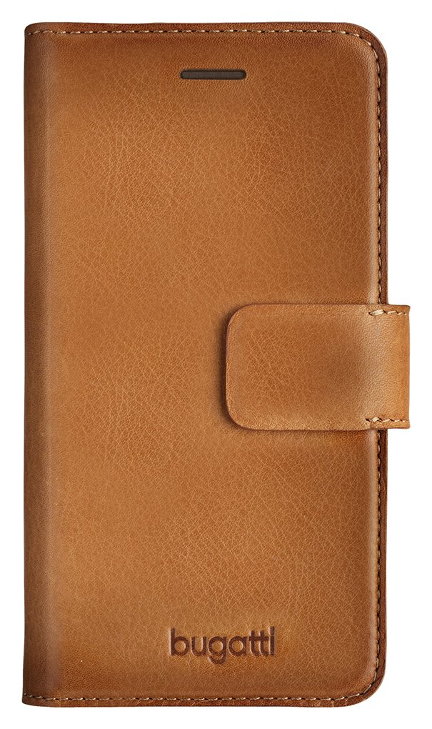 Image of Bugatti - iPhone - 7 Leather - Booklet Case - Cognac