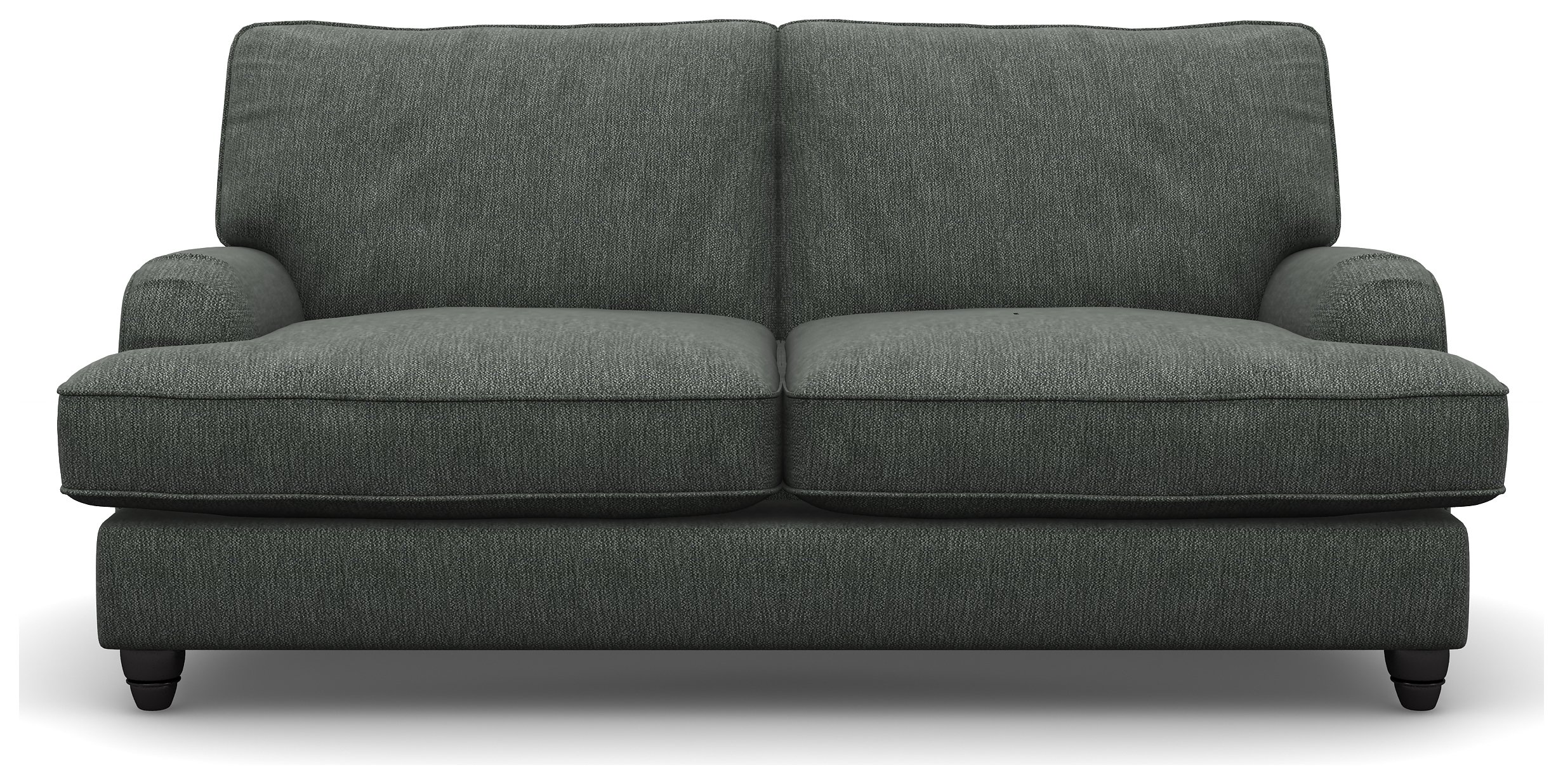 Heart of House Adeline Modern 2 Seater Fabric Sofa - Pewter.
