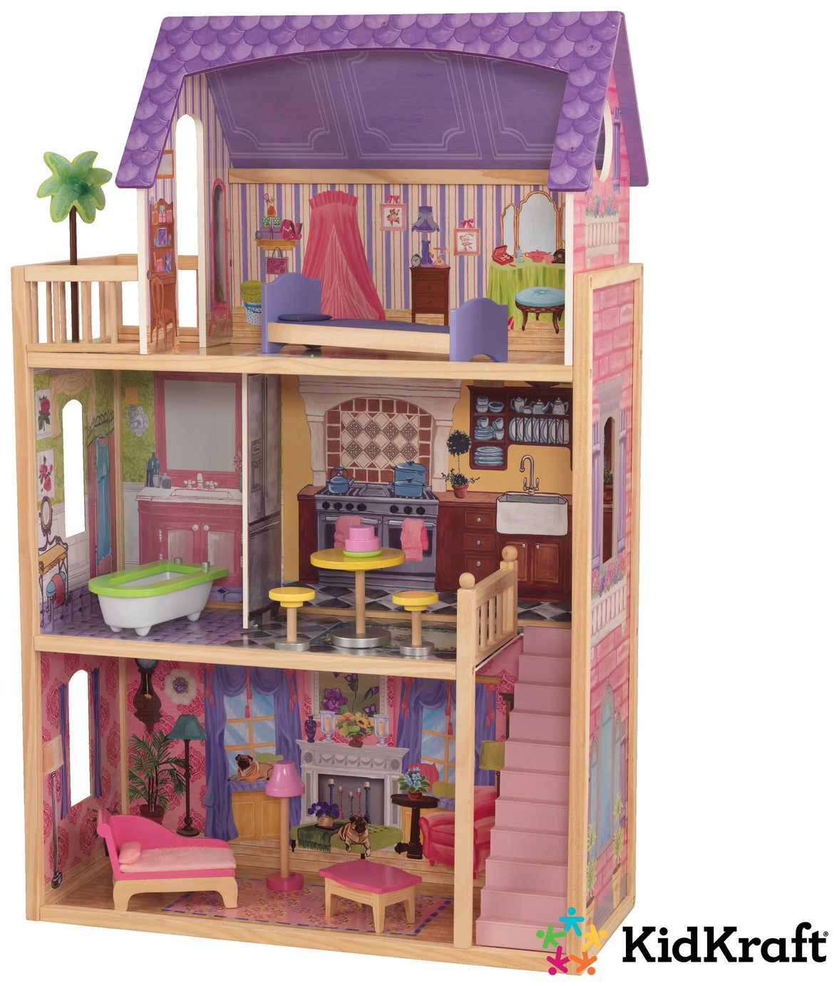 kidkraft kayla wooden dolls house