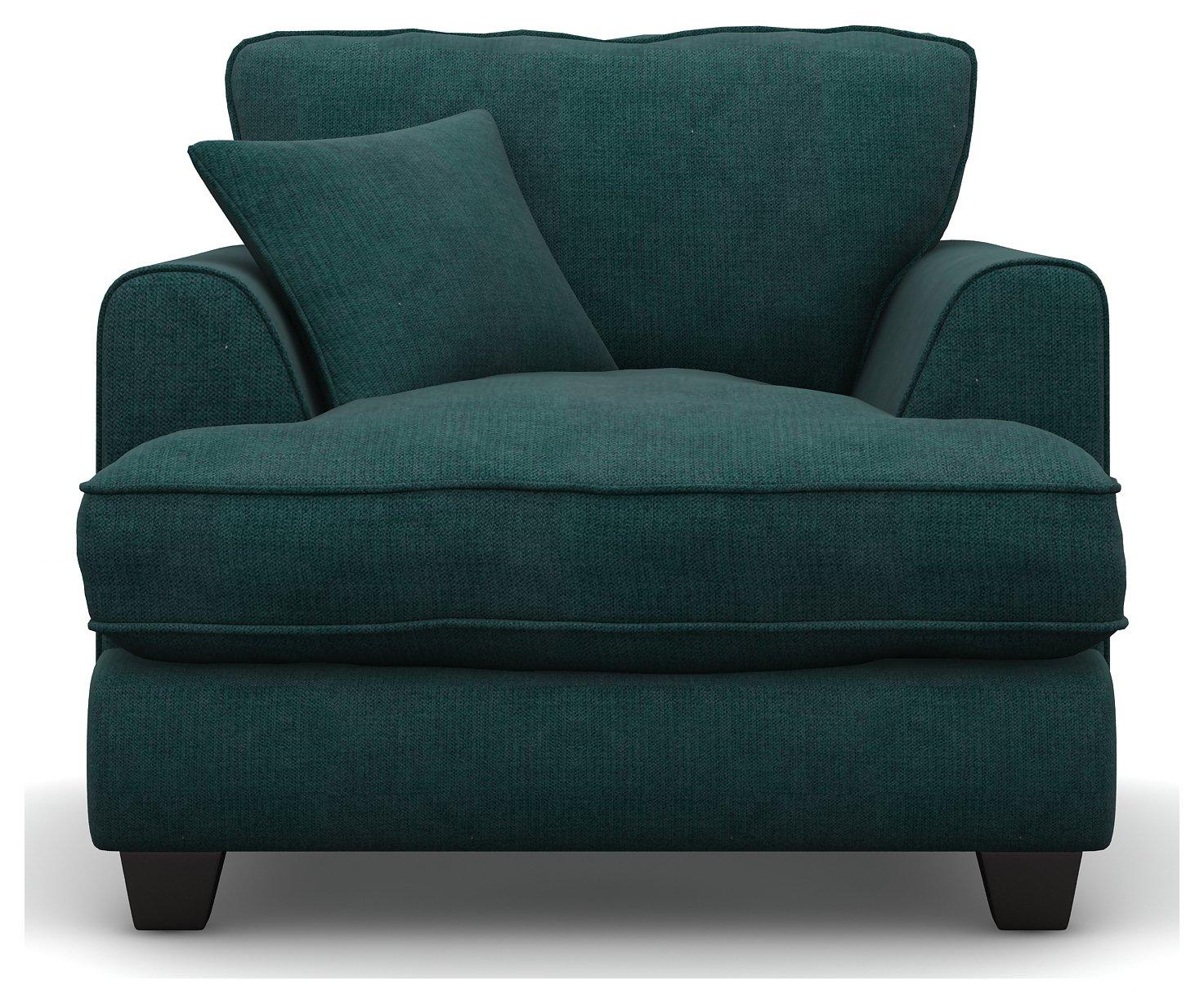 Argos Home Hampstead Fabric Armchair - Ocean Blue