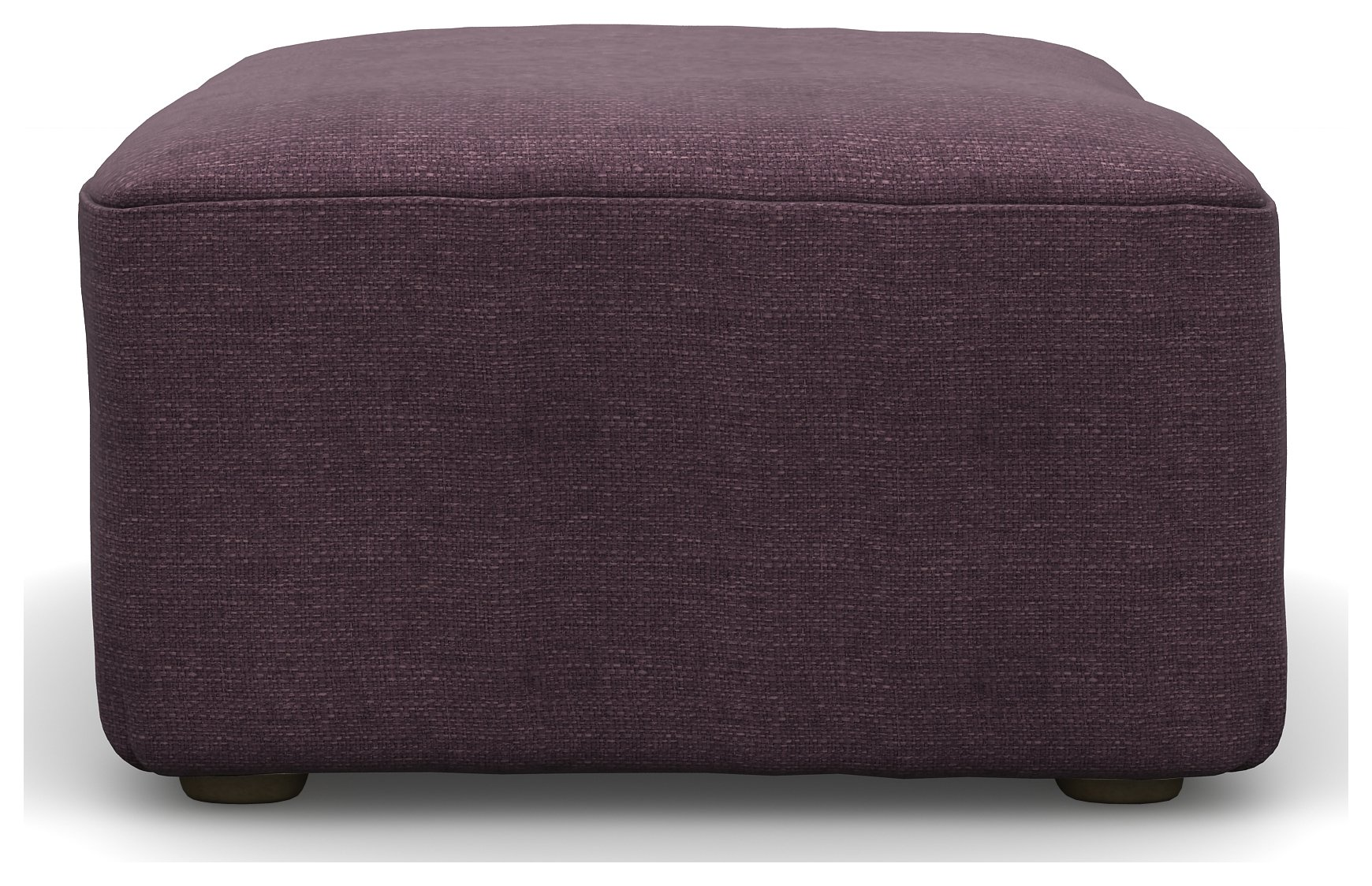 Heart Of House Libby Fabric Footstool Purple 163 169 99